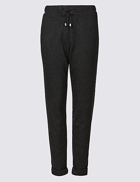 Textured Slim Leg Trousers