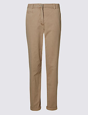 Pure Cotton Turn-up Chinos