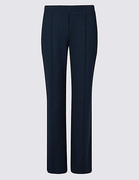 Side Stripe Straight Leg Trousers
