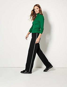 Side Stripe Straight Leg Trousers