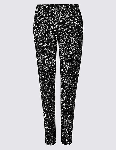Animal Print Jersey Trousers