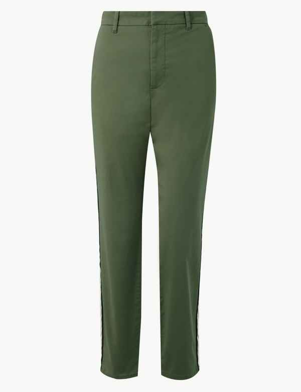 a197c98b364 Cotton Rich Tapered Leg Ankle Grazer Chinos