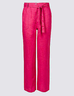 PLUS Pure Linen Wide Leg Trousers