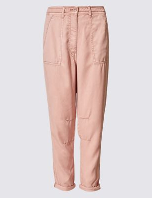 ce87862f Patch Pocket Turn Up Tapered Leg Trousers | M&S Collection | M&S