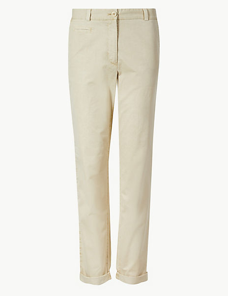 Pure Cotton Tapered Leg Chinos