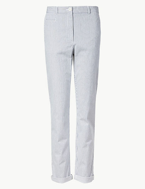 Cotton Rich Tapered Leg Chinos