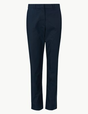 Cotton Rich Tapered Leg Chinos by Marks & Spencer