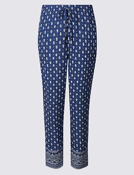 Craftwork Print Cropped Trousers