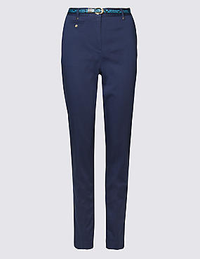 Belted Tapered leg Chinos