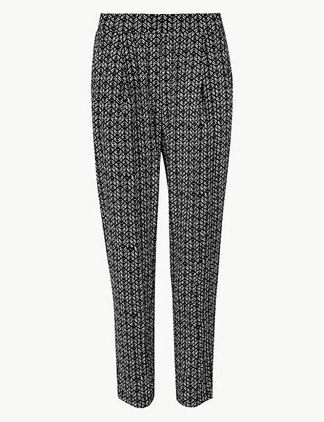 Chevron Jersey Peg Trousers