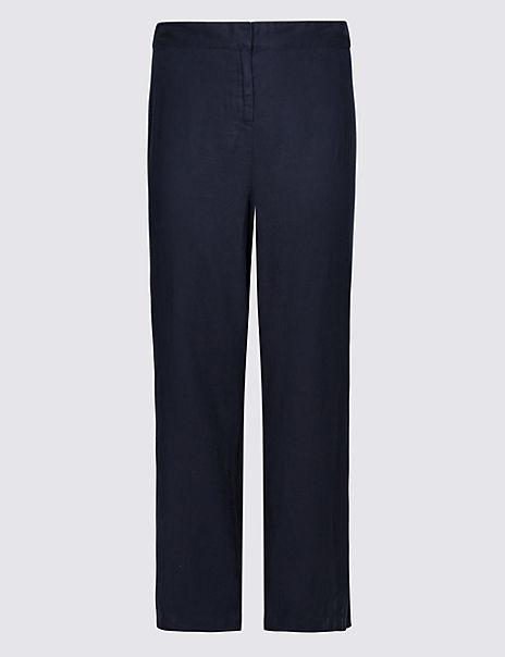 CURVE Linen Rich Wide Leg Trousers