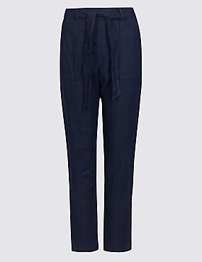 Pure Linen Peg Trousers