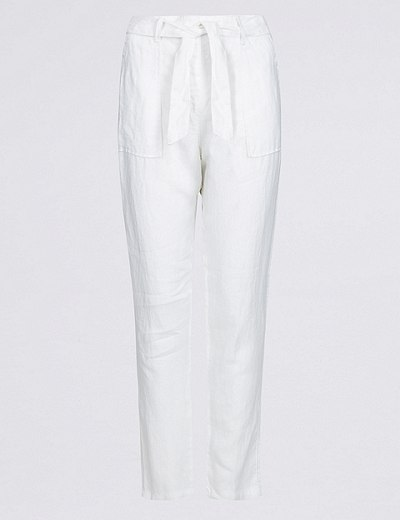 0befea5ab57 Pure Linen Peg Trousers | Marks & Spencer London