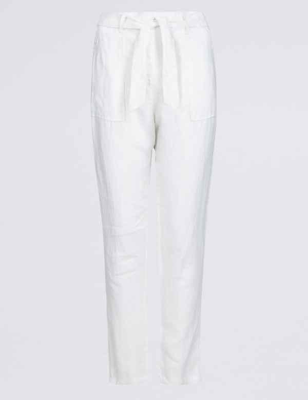 2bb87bbf54 Womens White Trousers & Leggings  M&S