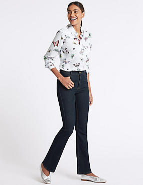 Mid Rise Slim Bootcut Flared Jeans