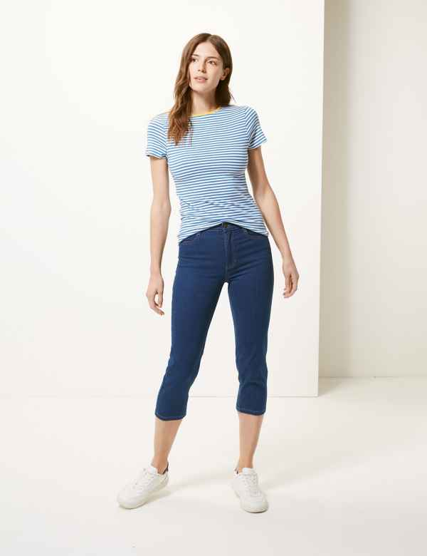 54ab5678acda2 Mid Rise Straight Leg Cropped Jeans
