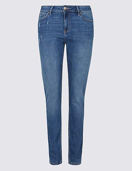 Mid Rise Slim Jeans