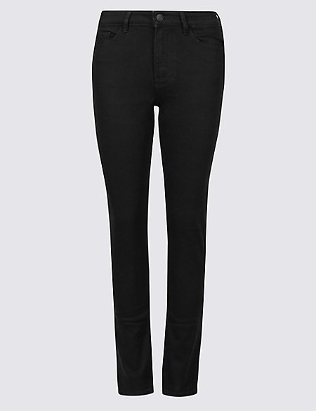 Mid Rise Slim Leg Jeans