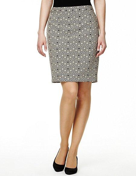 Double Diamond Print Mini Skirt