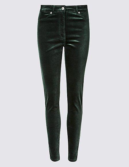 Mid Rise Skinny Leg Trousers