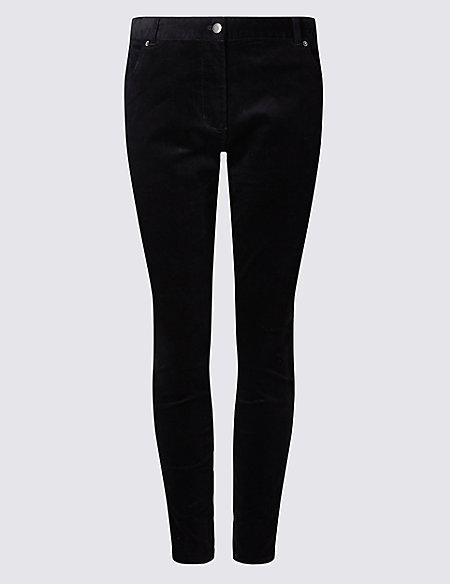 CURVE Corduroy Skinny Leg Trousers