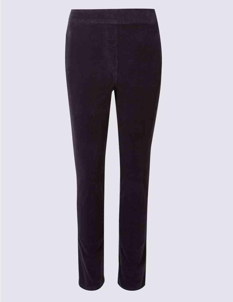 67263c6d4a9 Cotton Rich Straight Leg Corduroy Trousers