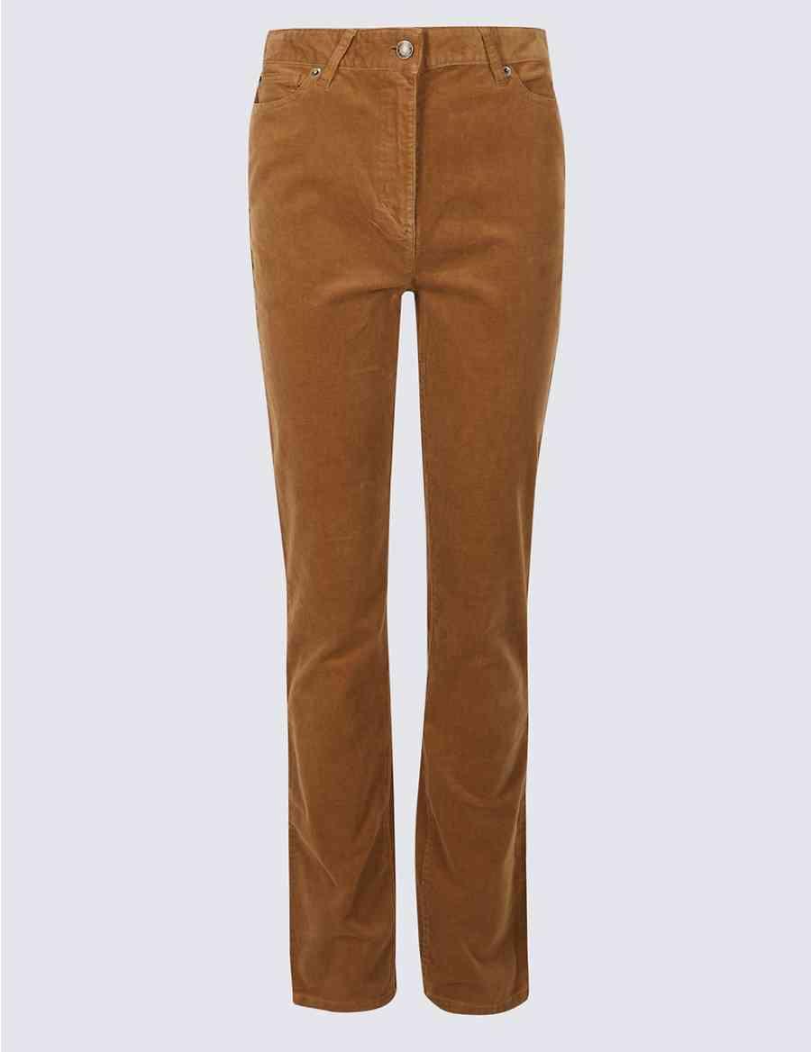 71661a69125 Cotton Rich Straight Leg Corduroy Trousers