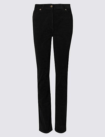 Cotton Rich Straight Leg Corduroy Trousers
