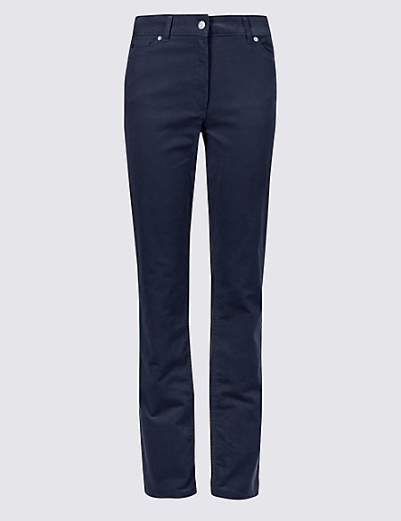 Corduroy Straight Leg Trousers