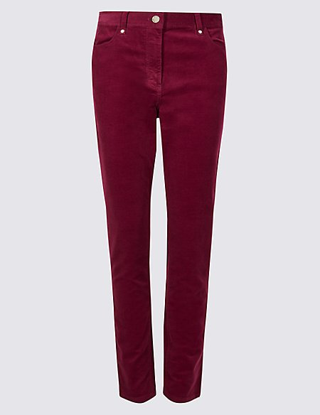 Cotton Rich Corduroy Slim Leg Trousers