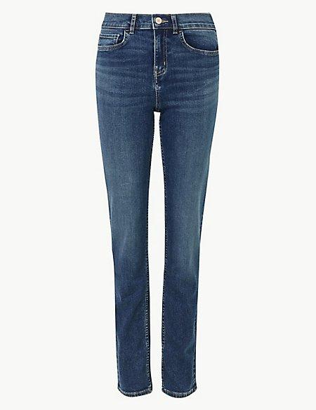 360 Contour Mid Rise Straight Leg Jeans