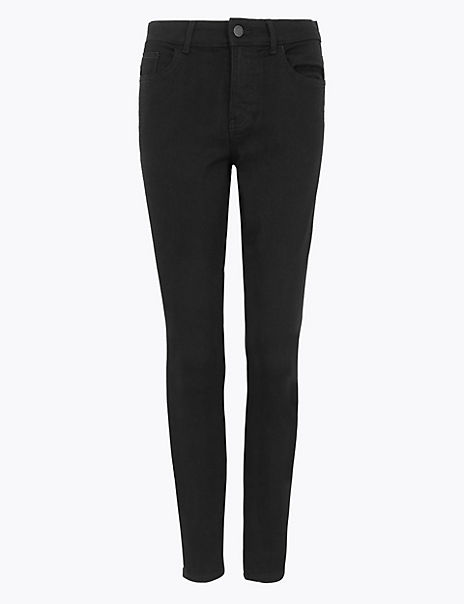 PETITE Mid Rise Skinny Fit Jeans