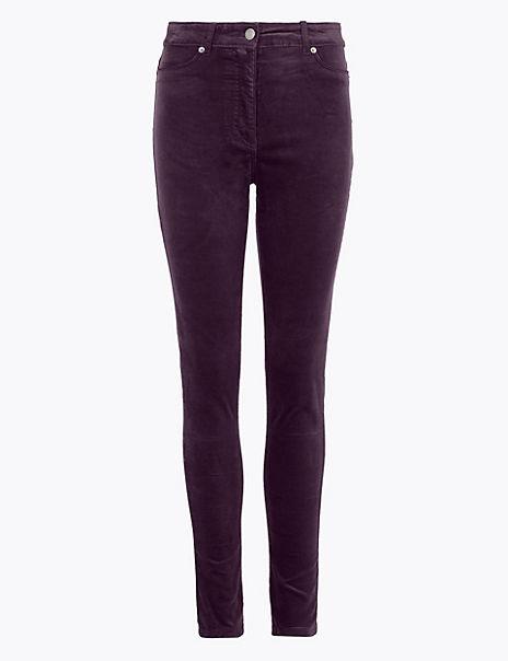 Velvet Corduroy Ankle Grazer Trousers