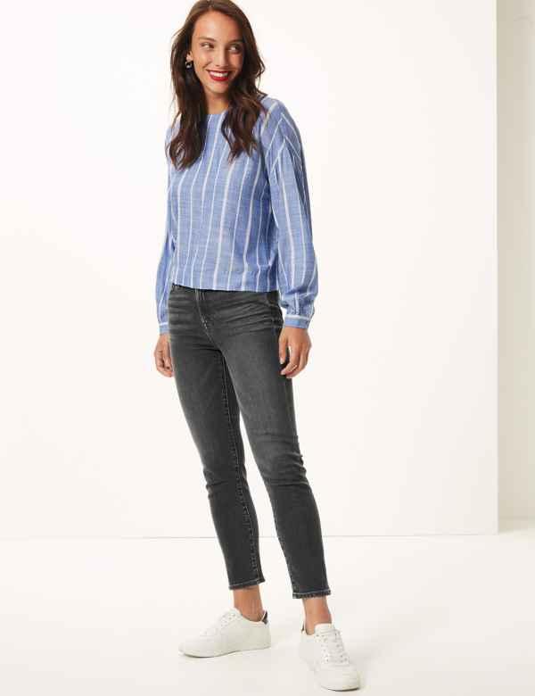 67553fa54 Womens Grey Jeans & Jeggings | Dark & Light Grey Jeans | M&S