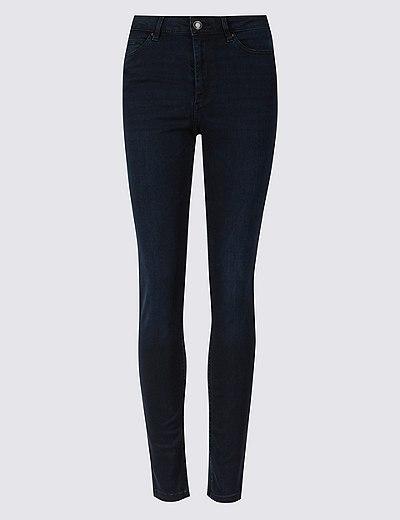 29e16dda074 Tvarující džíny se středně vysokým pasem a přiléhavými nohavicemi ...