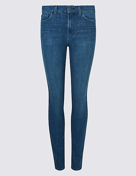 360 Contour Mid Rise Skinny Leg Jeans