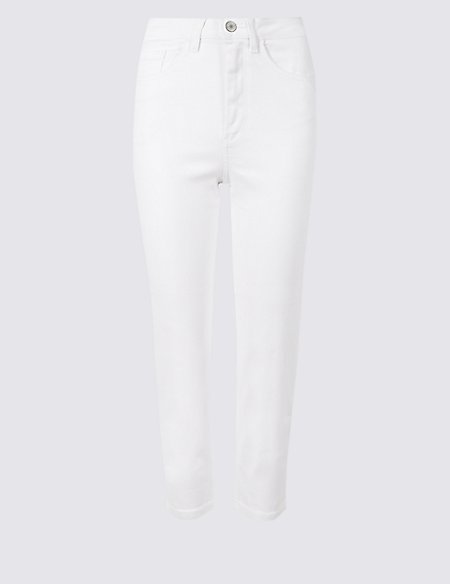 Sculpt & Lift Mid Rise Cropped Jeans