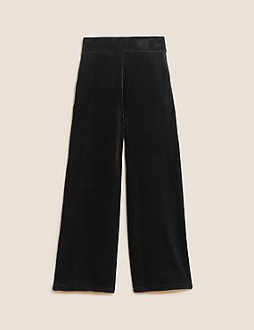 Hosenrock aus Jersey-Cord mit weitem Bein
