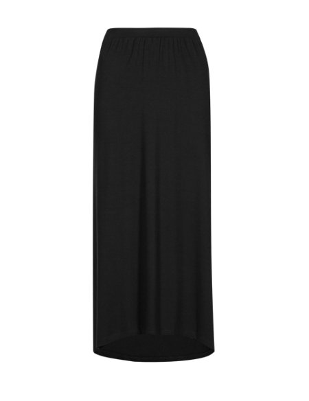 Elliptical Hem Maxi Skirt