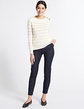 Frill Pocket Roma Rise Skinny Leg Jeans