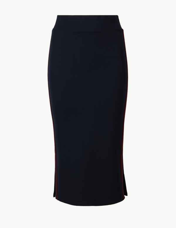 e3d7882a0b6 Jersey Pencil Midi Skirt. M S Collection