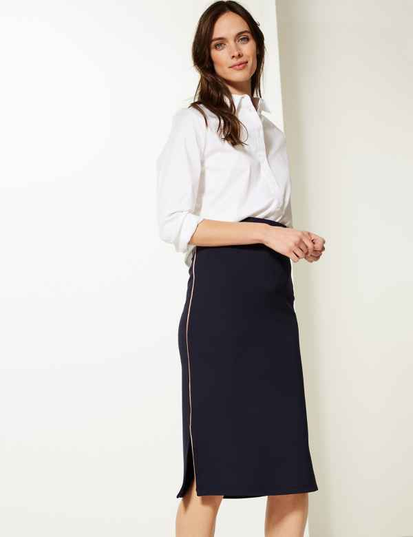 db87dfb4bb8 Jersey Fit   Flare Midi Skirt