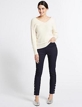 Pinspot Roma Rise Skinny Leg Jeans