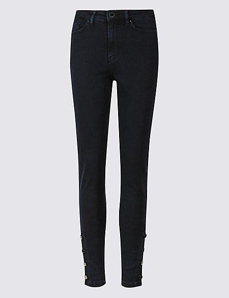 Embellished Skinny Leg Jeans