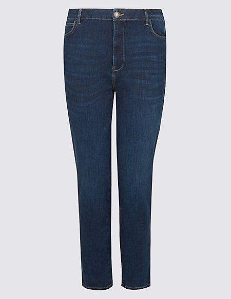CURVE 360 Contour High Waist Straight Jeans