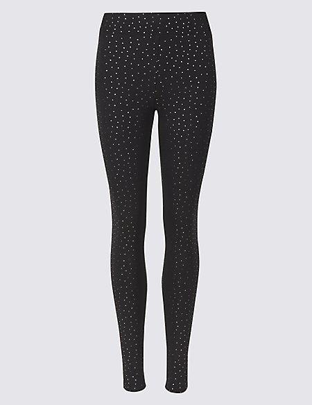 Cotton Rich Skinny Leg Trousers