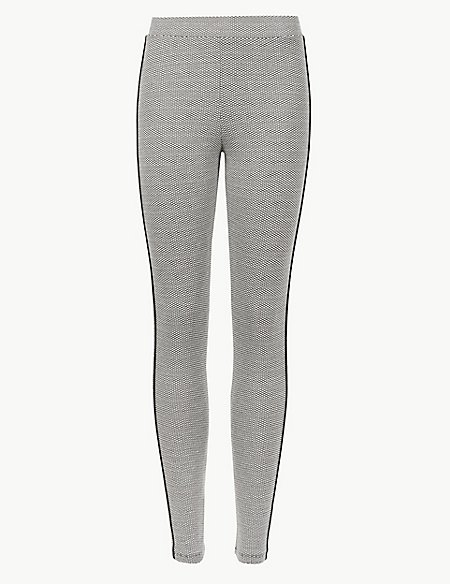 Jacquard Side Stripe Leggings