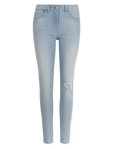 Ripped Stretch Jeggings