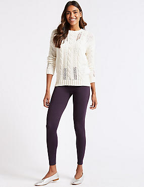 Cotton Rich Textured Leggings