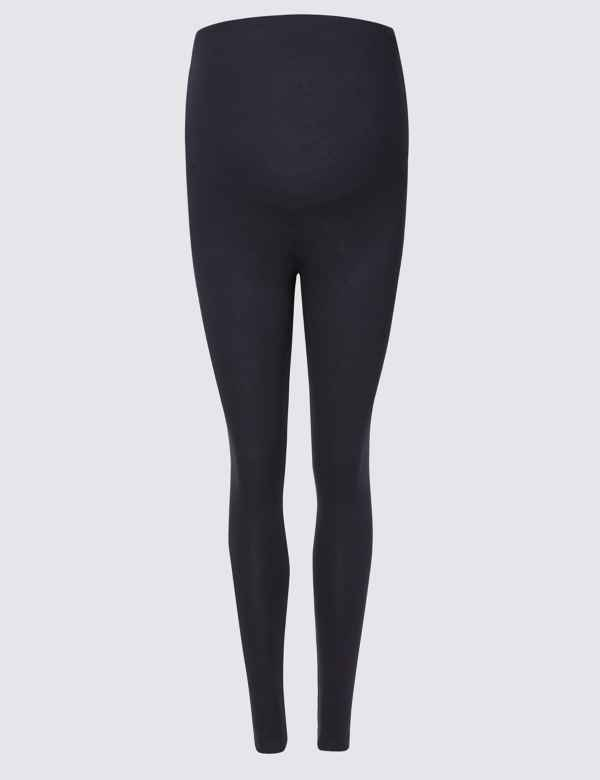 84bc1b9087034d Maternity Cotton Rich Leggings. Online Only. M&S Collection